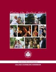 College Counseling Handbook - St. Anne's Belfield School