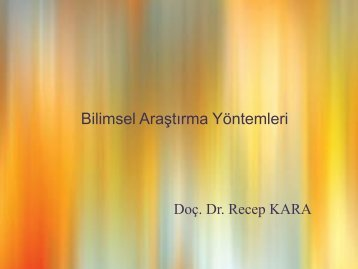 bilimsel araştırma yöntemleri-3