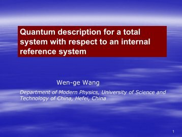 A quantum theory for a total system including a measuring apparatus