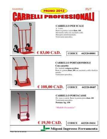 (Microsoft PowerPoint - 442520 PROMO CARRELLI.ppt ... - Migoni