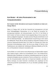 40 Jahre Pionierarbeit in der Computersimulation (pdf) - Johannes ...