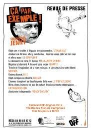Téléchargez la revue de presse - Théâtre Les Ateliers d'Amphoux