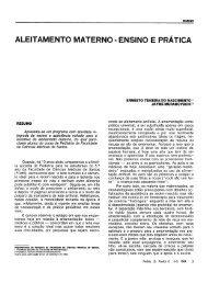 aleitamento materno - ensino e prática - Pediatria (São Paulo)