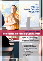 Professional Learning Community - Teaching Times