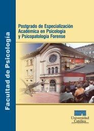 Postgrado Psicopatologia Fore... - Universidad Católica del Uruguay