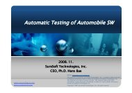 Automatic Testing of Automobile SW - EuroSouthKorea-ICT.org