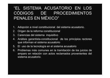 el sistema acusatorio en los códigos de procedimientos penales en ...