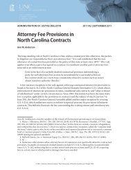 Attorney Fee Provisions in North Carolina Contracts - School of ...