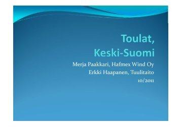 Merja Paakkari, Hafmex Wind Oy Erkki Haapanen, Tuulitaito 10/2011