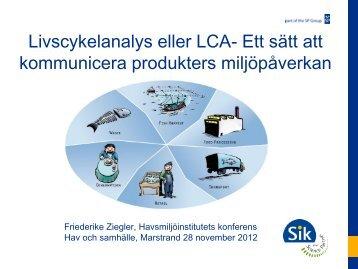Livscykelanalys – ett sätt att kommunicera ... - Havsmiljöinstitutet