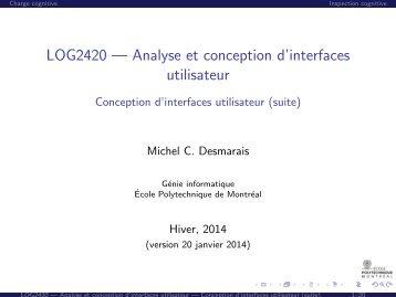 LOG2420 — Analyse et conception d'interfaces utilisateur ... - Cours