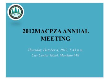 2012 MACPZA Annual Meeting