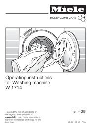 Operating instructions for Washing machine W 1714 - Miele