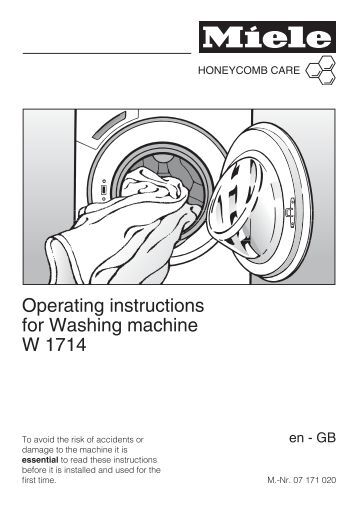 operating instructions washing machine w 1612. Black Bedroom Furniture Sets. Home Design Ideas