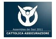Presentazione Risultati 2010 all'Assemblea dei Soci di Cattolica ...
