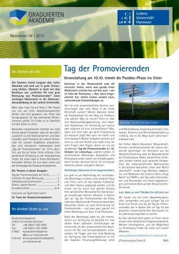Newsletter 04/2013 - Graduiertenakademie - Leibniz Universität ...