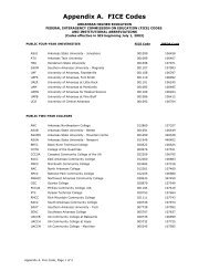 FICE Codes and Institution Abbreviations - Arkansas Department of ...