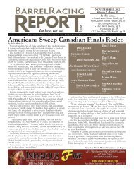 Americans Sweep Canadian Finals Rodeo - Barrel Racing Report