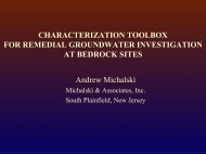Characterization toolbox for remedial groundwater investigations at ...