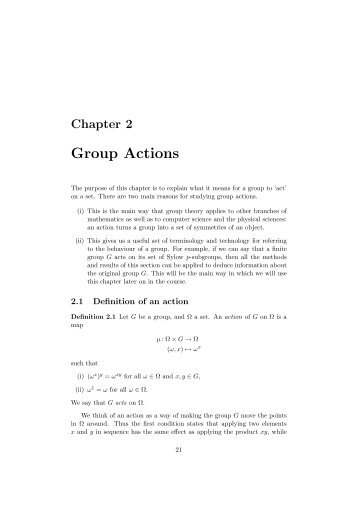 Group Actions