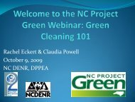 Green Cleaning 101 - NC Project Green