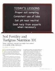 Soil Fertility and Turfgrass Nutrition 101 - USGA Green Section ...