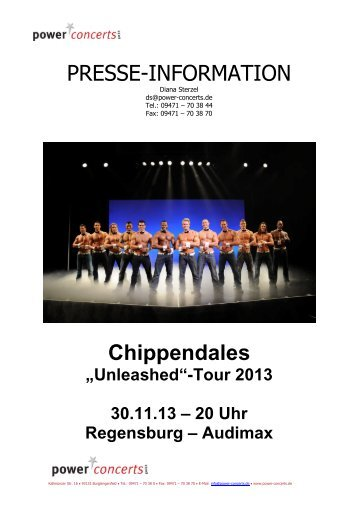 PRESSE-INFORMATION Chippendales - Power Concerts ...
