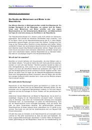 Die Rechte der Mieterinnen und Mieter in der ... - Mieterverband