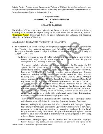 Mutual Separation Agreement And General Release