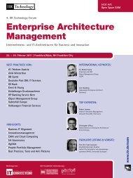 Enterprise Architecture Management - IIR Deutschland GmbH