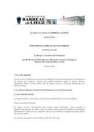 Carrefour des Entreprises par Mr Ph. Evrard (Président du ... - Juridat