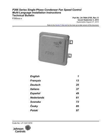 P266 Series Single-Phase Condenser Fan Speed Control Multi ...