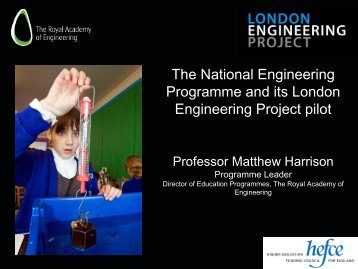 The National Engineering Programme and its London Engineering ...