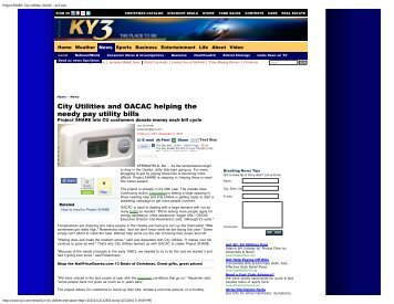 Project SHARE: City Utilities, OACAC - ky3.com