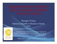Wangari Tharao.pdf - Canadian AIDS Society