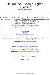 Education Journal of Hispanic Higher - the UCLA Chicano Studies ...