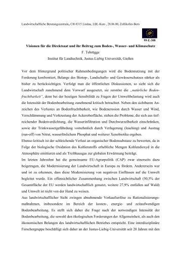 Visionen für die Direktsaat und ihr Beitrag zum ... - bei der GKB eV