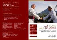 ACJU-AP SLP 2012 - Universitas Sanata Dharma