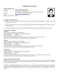 CURRICULUM VITAE - Facultad de Ingeniería Mecánica y Eléctrica