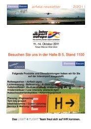 airfield newsletter 2/2011 Besuchen Sie uns in der Halle B 5, Stand ...