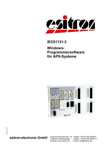 Programmiersoftware für APS - esitron