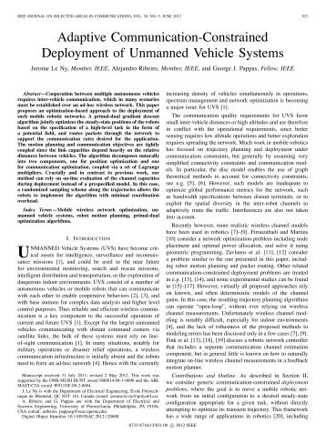 Adaptive Communication-Constrained Deployment ... - ResearchGate