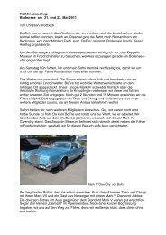 Bericht von Christian Brodbeck