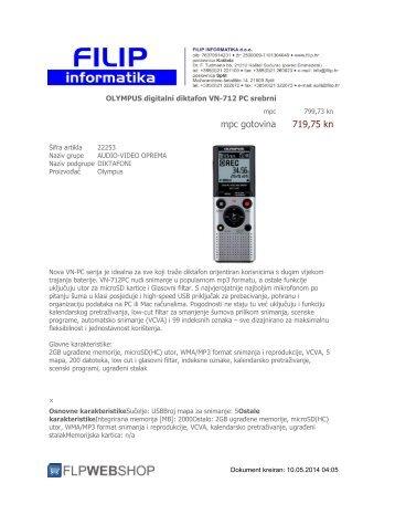 mpc gotovina 685,07 kn - filip informatika web shop