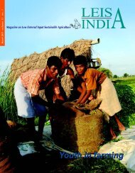 Low external input sustainable agriculture - Leisa India