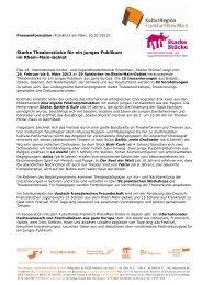Pressemitteilung lang (Feb. 2013) - Starke Stücke Rhein-Main