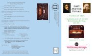 Brochure - American Liszt Society
