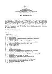 Ordnung für die Bachelor-Prüfung im Studiengang Architektur am ...