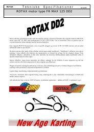 T ekniske S pecifikationer ROTAX motor type FR MAX 125 DD2