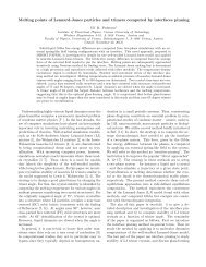 Melting points of Lennard-Jones particles and trimers ... - dirac